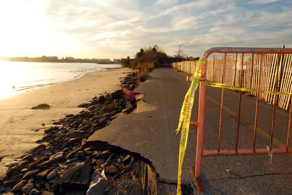 Plumb Beach Bike Path Destroyed By Hurricane Ida