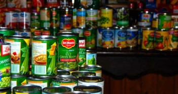 Madison-Marine-Homecrest Civic Association collected scores of canned goods.