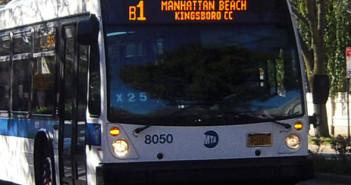 The B1 bus, en route to Kingsborough Community College
