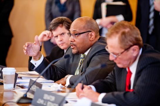 State Senator John Sampson (center) (Source: nysenate.gov)