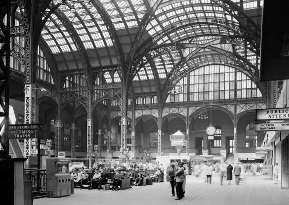 The glorious, old Penn Station, before it was demolished to make room for the hideous monstrosity we know today. Source: Wikipedia