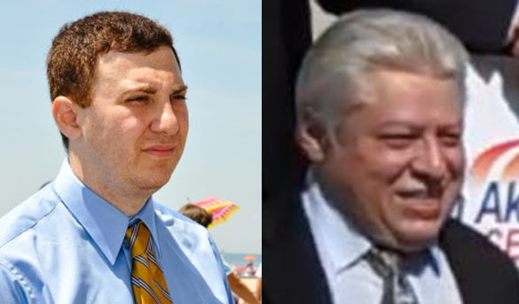 Many say Davidzon (right) is only running to cause Storobin (left) to lose, but it might mean losing out on business for the media mogul.