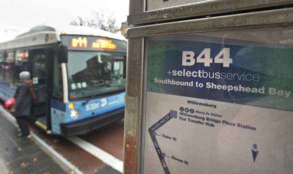 The B44 SBS debuts along Nostrand Avenue. Source: Patrick Cashin / MTA / Flickr