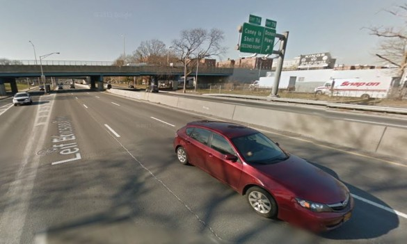 Belt Parkway at Coney Island Avenue (Source: Google Maps)
