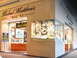 Michael Matthews Jewelers occupied an interior corner location on the second floor of Kings Plaza mall.