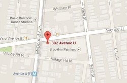 The location of Santander bank at 302 Avenue U, where the first robbery took place.  (Source: Google Maps)