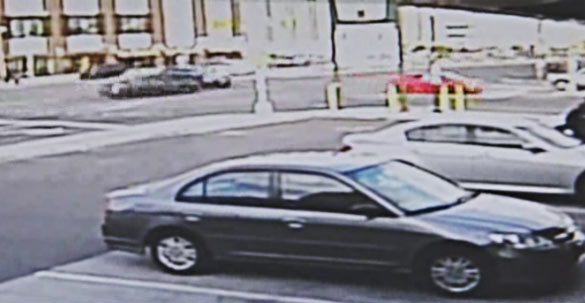 The moment of impact was captured by surveillance video. (via Daily News)
