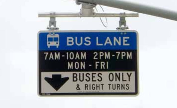 Signage for bus lane enforcement (Source: DOT)