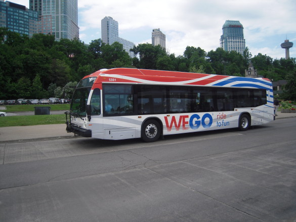WeGo Bus in Niagara Falls. All photos courtesy of Allan Rosen