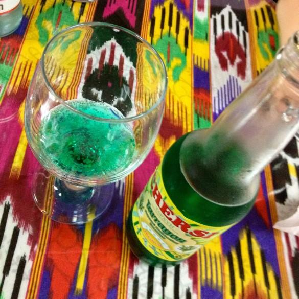 Cafe Kashkar: tarragon soda