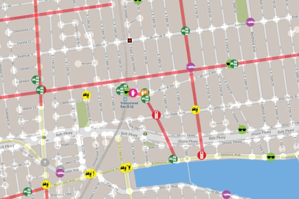 Screenshot of the interactive Vision Zero map.