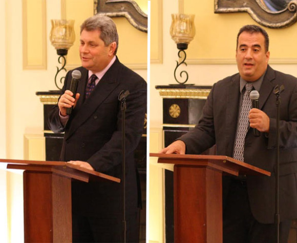 Assemblyman Brook-Krasny (left) and challenger Lilikakis (right). Photo by Bailey Wolff.