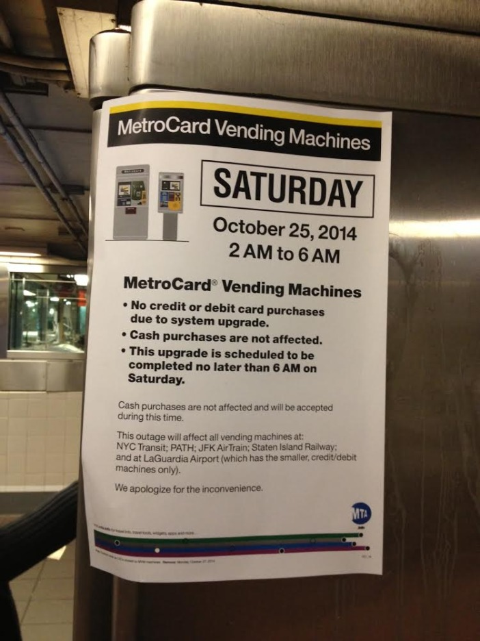 MetroCard machine don't want your money