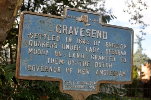 Gravesend historic sign